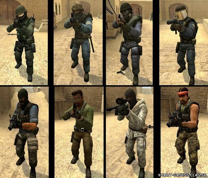 Оригинальные игроки CS:S конверт для CS 1.6 - Models Pack - Модели игроков CS 1.6/Source/Global Offensive